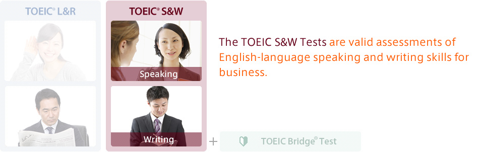 The TOEIC S&W are valid assessments of English-language speaking and writing skills for business.