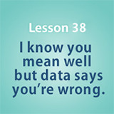Lesson 38 I know you mean well but data says you're wrong.