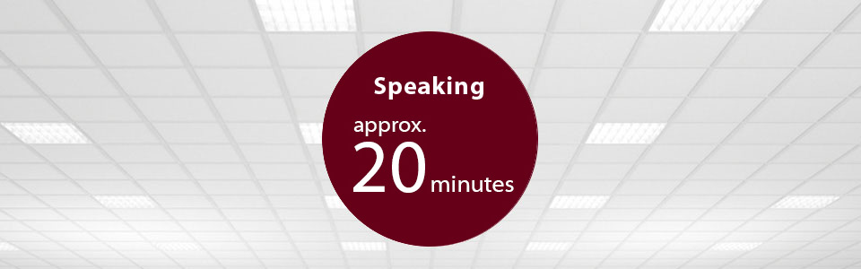 Speaking approx20minutes