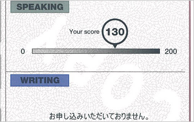 TOEIC Speaking Official Score Certificate