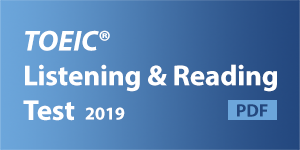 TOEIC Listening and Reading Test 2019