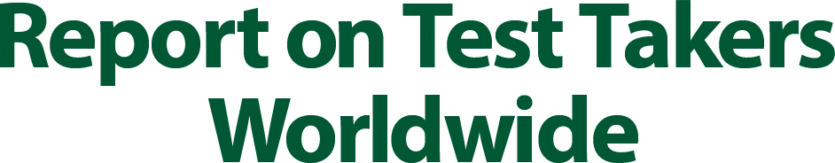 Report on Test Takers Worldwide
